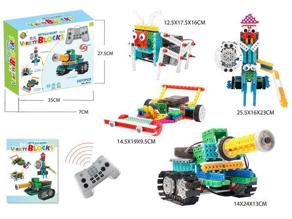 Робот конструктор LongYeah Variety Blocks R721 4-в-1 - RC HOBBY